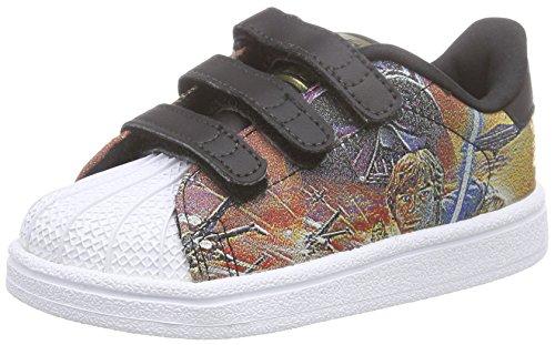 adidas Originals Unisex Kinder Superstar Star Wars Sneaker, Mehrfarbig (Core Black/Core Black/FTWR White), 19 EU