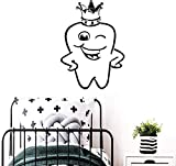 Etiqueta De La Pared Mural Calcomanía Diente Exquisito Vinilo Impermeable Decoración Del Hogar Accesorios Cuarto De Baño Papel Tapiz Cartel Comercial Dental Creativo L 43X59Cm