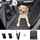 LIFEFAIR Dog Seat Cover Car Seat Cover for Pets,Dog Car Hammock with Mesh Window,900D Heavy Duty Scratch Proof Nonslip,Dog Cover for Car,Waterproof Dog Backseat Cover SUVs and Trucks