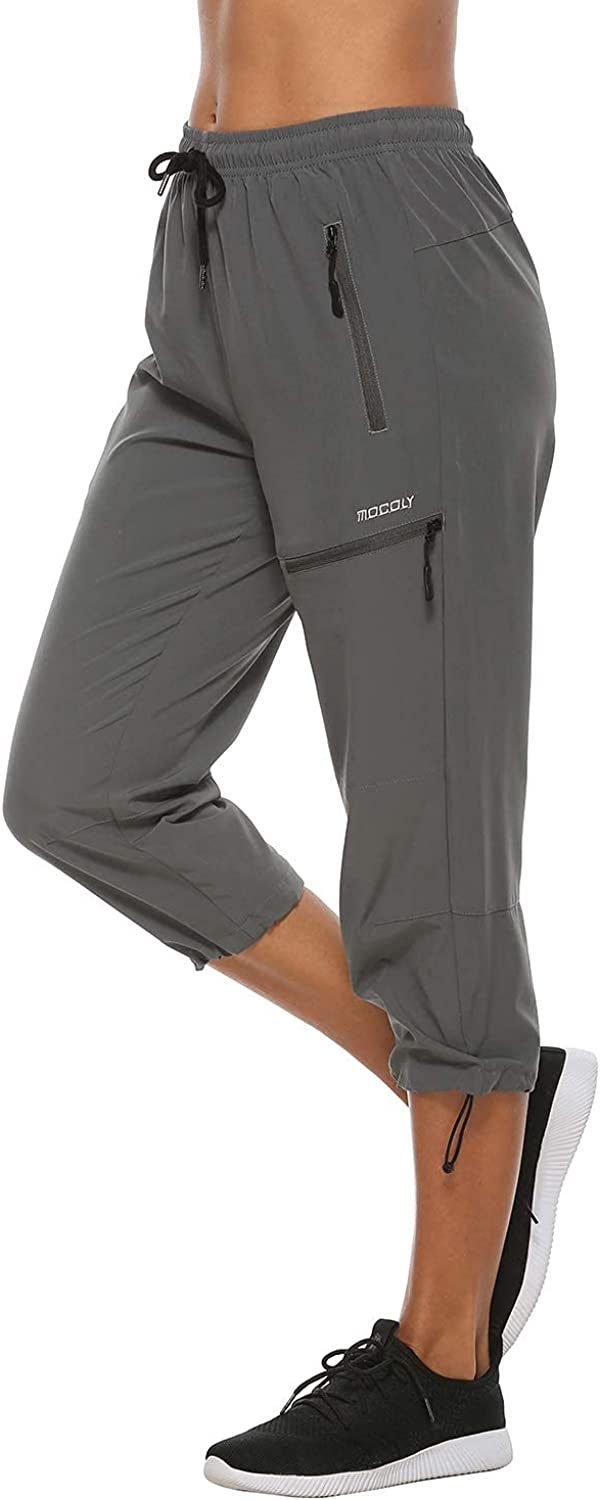 MOCOLY Women's Cargo Hiking Pants Quick Tampa Mall Dry Waist Elastic Special Campaign Lightw