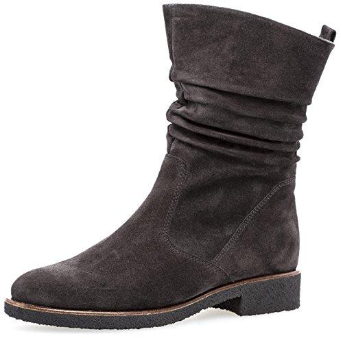 Gabor Damenschuhe 72.703.39 Damen Stiefel, Boots, Stiefelette, mit Reißverschluss, in Comfort-Mehrweite, mit Optifit- Wechselfußbett Grau (dk-Grey(S.s/c/Mel)), EU 8