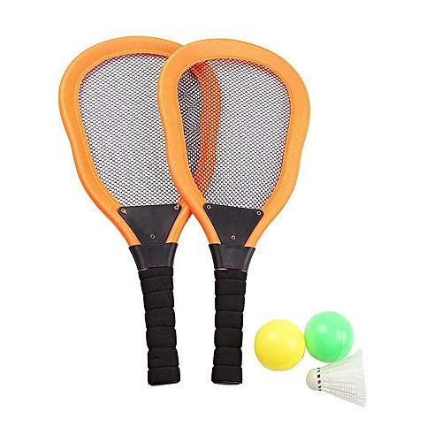 YYDM 1 Paar Kinder Tennisschläger-Set, Anfänger Spieler Kleine Tennisschläger/Kinder Outdoor Sport Spielzeug Mit 3 Bällen, Für Strand-Schläger,Orange