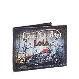 Lois - Cartera para Hombre Joven con Monedero, Billetera y Tarjetero. Marca Original con Protección antiescaneo RFID 12603, Color Marron