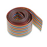 Eowpower 2M 40Pin 40Way Rainbow Color Flat Ribbon Cable IDC Wire Cable...