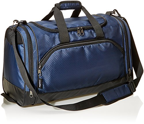 Amazon Basics Medium Lightweight Durable Sports Duffel Gym and Overnight Travel Bag - Navy Blue