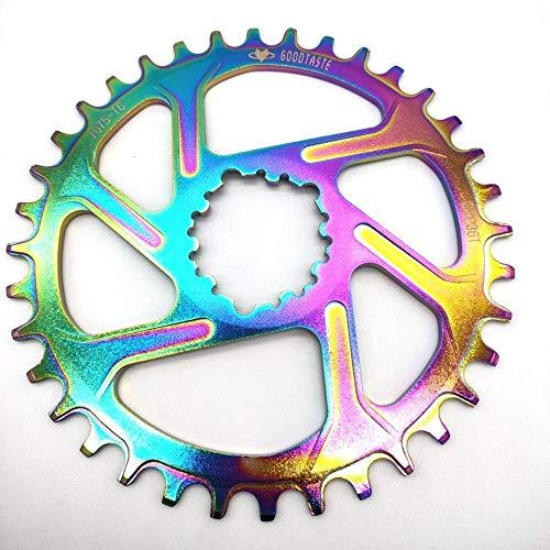 XIARUI Piñón de Bicicleta GXP Bicicletas 32T / 34T / 36T / 38T Estrecho Ancho de Bicicletas Chainring GXP XX1 XO CNC AL7075 Crank de Bicicletas Partes de la Bicicleta (Color : 34T 6mm)