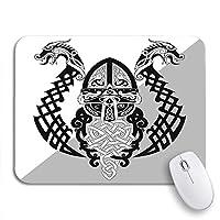 可愛いマウスパッド エジプトの象形文字アフリカ民族カラフルな部族3D装飾用パピルス滑り止めゴムバッキングコンピューターマウスパッドノートブックマウスマット