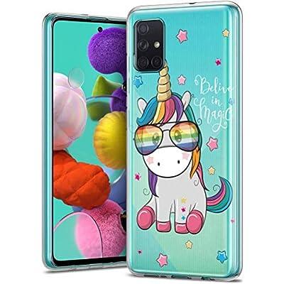 ZhuoFan Funda para Samsung Galaxy S20 FE/S20 Lite/S20 Fan Edition 5G 6.5'' Carcasa de TPU transparente Silicona Suave Animados protectora Case Fundas Antichoque para telefono móvil Fundas -unicornio 2