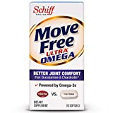 Move Free Ultra Omega Omega 3 Krill Oil, Hyaluronic Acid and Astaxanthin Joint Supplement, 30 ct (Pack of 2)