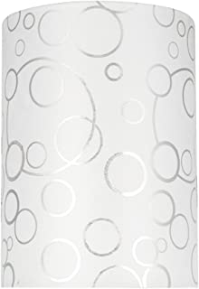 Aspen Creative 31114 Transitional Hardback Drum (Cylinder) Shaped Spider Construction Lamp Shade in White, 8