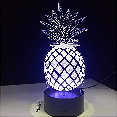 Lampka nocna 3D lampy biurkowe ananas cena rozświetl swoje marzenia zmieniające się wystrój pokoju do gier prezent dla dzieci z ładowaniem USB, zmiana kolorów – sterowanie dotykowe