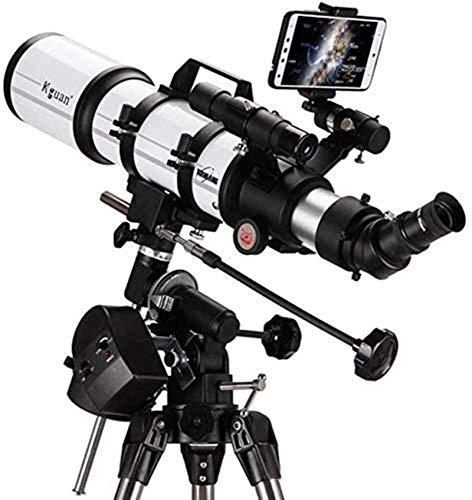 Reflector profesional Telescopio para niños Adultos Astronomía Principiantes, Telescopio de refractor para astronomía, Telescopio de viaje con trípode, película verde múltiple, 80az , para niños regal