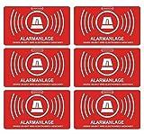 König Werbeanlagen 5Stück Aufkleber Alarmanlage | alarmgesichert | Folie 5 x 3 cm | wetterfest | UV Schutz | Aufkleberset
