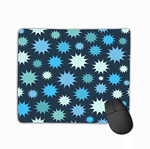 Gaming Mouse Pad Oblong geformte Mausmatte Multicolor Star Feuerwerk Hintergrund Kreise Endlose Textur kann verwendet werden Drucken auf Stoff Papier Spaß