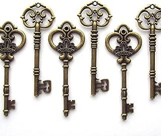 Salome Idea 20PCS Assorted Large Vintage Skeleton Keys (2 Styles) - 3 1/4