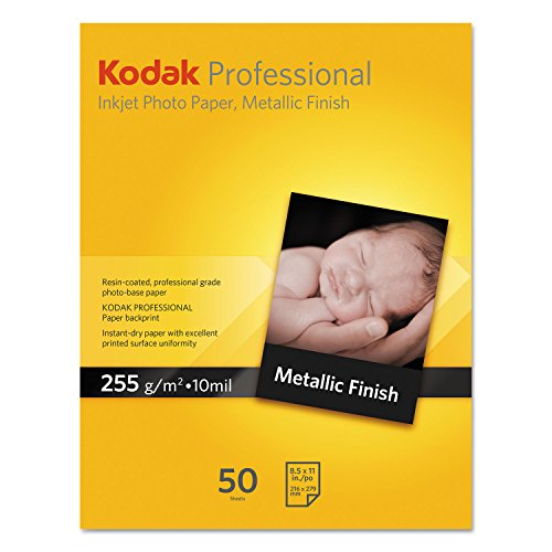 Kodak KPRO1319MTL Professional Inkjet Photo Paper, Metallic, 10.9 mil, 13 x 19, 20 Sheets/PK