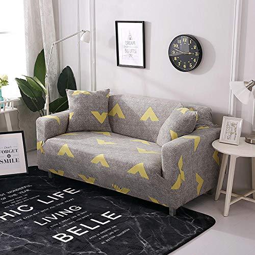 Funda Sofa 1 Plaza Flecha Amarilla Fundas para Sofa con Diseño Elegante Universal,Cubre Sofa Ajustables,Fundas Sofa Elasticas,Funda de Sofa Chaise Longue,Protector Cubierta para Sofá