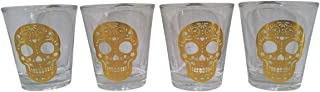 TMD Holdings Set of 4 Day of the Dead Halloween Shot Glasses (1.5 oz)