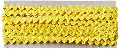 Wrights 117-400-086 Polyester Baby Rick Rack Utility Trim, Canary, 4-Yard