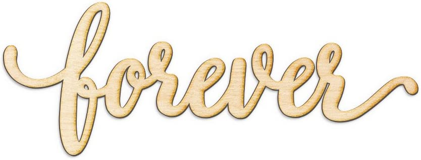Woodums Forever Script Word Wood Sign Home Décor Wall Art for Gallery Wall - Unfinished 18