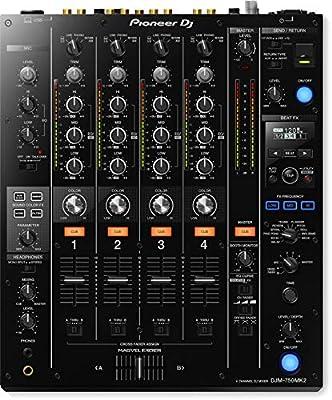 Pioneer DJM750MK2 4 Channel Professional DJ Mixer (Black)