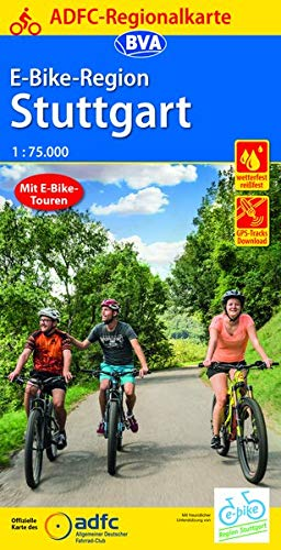 ADFC-Regionalkarte E-Bike-Region Stuttgart, 1:75.000, reiß- und wetterfest, mit GPS-Track Download (ADFC-Regionalkarte 1:75000)