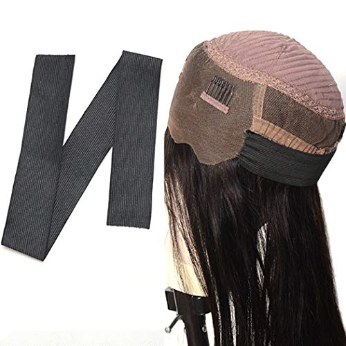 BLUPLE 1.5 inches width Black Elastic Band For Wigs/Lace Closures/Lace Frontal Sewing Band 6pcs