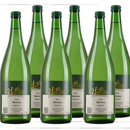 Frankenwein Höfling Bacchus Weißwein Liter Franken 2018 halbtrocken (6x 1 l)