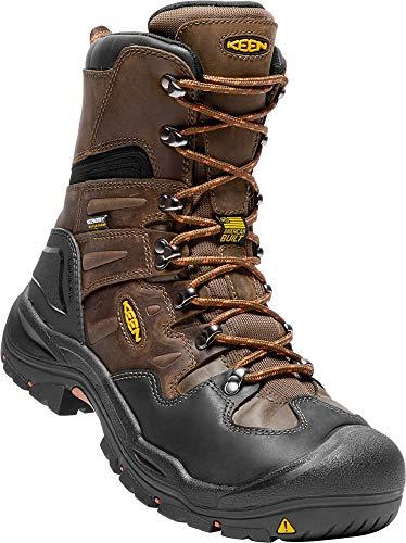 KEEN Utility Men's Coburg 8' Steel Toe Waterproof Work Boot Cascade Brown/Brindle 9.5D
