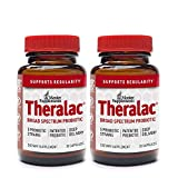 Master Supplements Theralac - Multi Strain Probiotic for Optimal Gut Health, Immune Booster, Gas and Bloating Relief - Gluten Free, 30 Count (Pack of 2)
