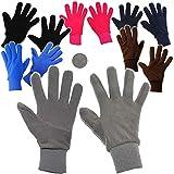 alles-meine.de GmbH Fleece Fingerhandschuhe _ sehr weich - ROSA / Beere - Größe: ab 14 Jahre -...