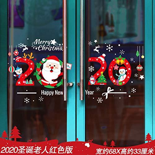 Adornos navideños Árbol de Navidad viejo copos de nieve adornos pegatinas diseño de escena pegatinas-Guirnalda de navidad de dibujos animados