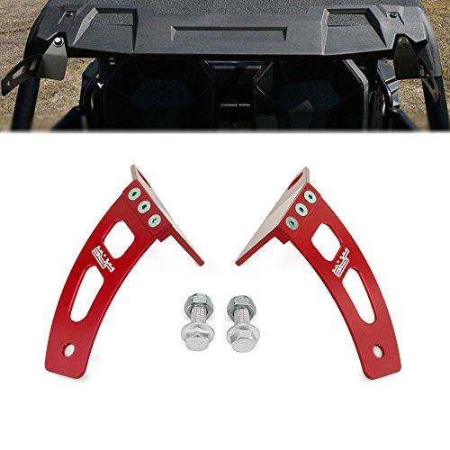 JFG RACING Soporte de montaje para parabrisas delantero CNC para barra de luz LED de 30 pulgadas, compatible con ATV Polaris 14-16 RZR XP1K XP1K-4,16 RZR 900 RZR-S 1000, rojo