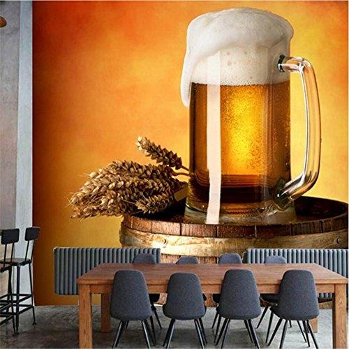 MFFACAI Wallpaper Bier Fass Muster 3D Anpassbare Wand Dekoration Bar, C