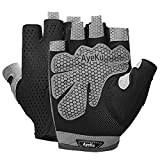 Fingerless Gloves for Men Breathable Workout Gloves Sport Gloves Gym Exercise Gloves Lightweight Gym Cycling Exercise Weight Lifting