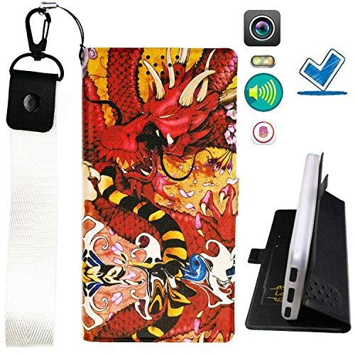 Huayijie HYJPT Hülle für Doogee Voyager2 Dg310 Hülle Flip PU-Leder + Silikon Cover Hülle Fest LHD