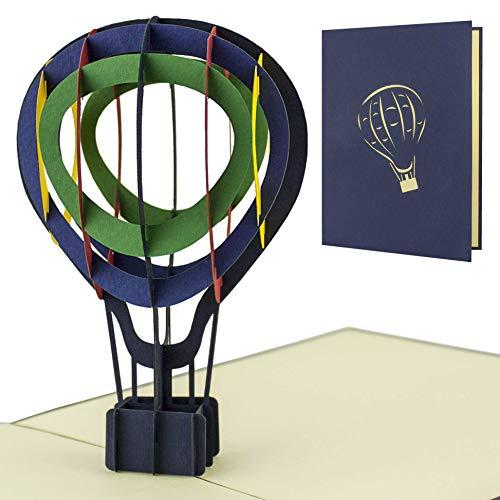 Gutschein oder perfekte Verpackung für Heißluftballonfahrt, Geschenk als 3D-Pop-Up Modell, H12
