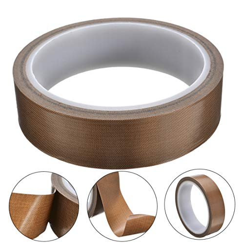 LeTang Hochtemperatur-Klebeband, PTFE/Teflonband für Vakuumiergerät, Hand- oder Impulsversiegelung, hitzebeständig bis 300 Grad (10 m / 393,7 Zoll) (19 mm)