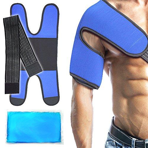 Impacco di gel per spalla con impacco, impacco caldo freddo per infortuni sportivi alla spalla, borsite, dolori articolari, dolori artritici, stiramenti, distorsioni, spalle rigide (9'X 5,5')