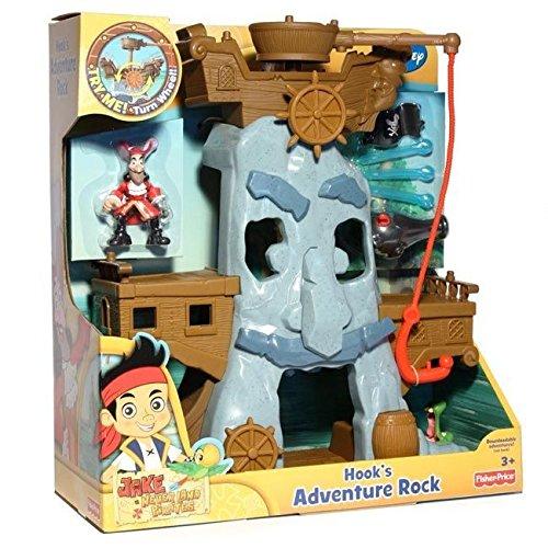 Jake y los Piratas - Set de Juego, Roca de Aventuras del Capitán Garfio (Mattel X4986)