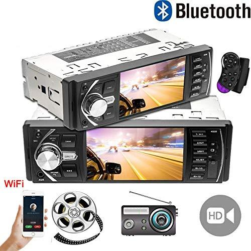 TOTMOX 1 DIN Bluetooth Car Stereo Navigatore GPS, 4.1 pollice Schermo LCD WIFI Multimedia Lettore MP5, con 2 Telecomandi, Radio FM, Supporto TF Card