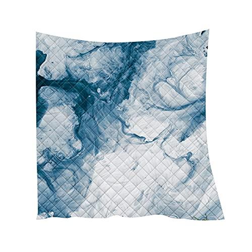 Chickwin Colcha Acolchada Verano,3D Marmoleado Mármol Impresión Colchas Cubrecama Microfibra Suave Colcha Ligero Manta para Dormitorio Cama Individual Matrimonio o Infantil (Gris,200x230cm)