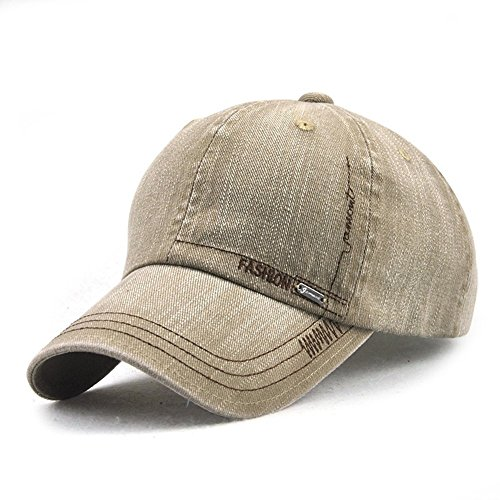 LAOWWO Denim Baseball Cap Herren Classic Design Freizeit Mütze Draussen Sport Reisen Sandwich Peak Cap Einstellbar