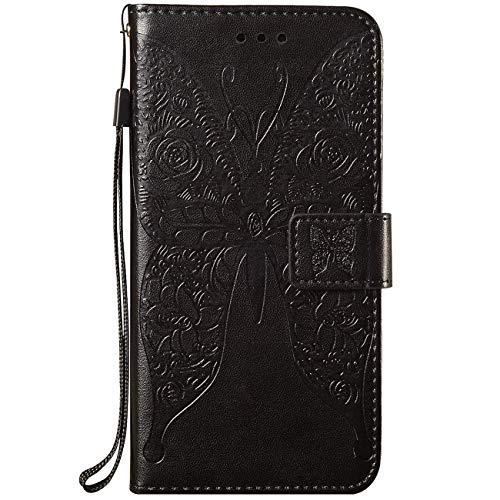 Vepbk Funda para Samsung Galaxy S20 FE (6,5 pulgadas), funda para teléfono móvil, funda con tapa, piel sintética, tarjetero, billetera, funda protectora para Galaxy S20 FE, color negro