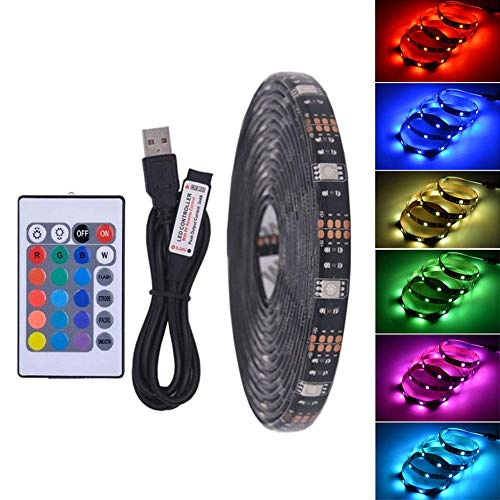 QUUY TV Back Light,USB LED Strip LED Waterproof Flexible Light Add Remote Control for TV Backlight