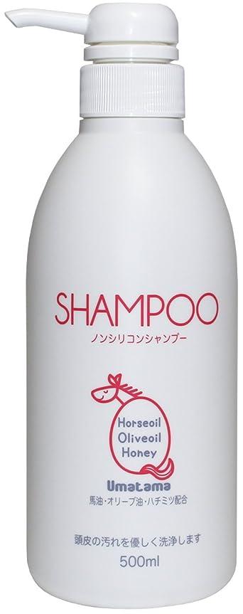 サルベージ複雑喜ぶUmatama(ウマタマ) 熊本の馬油を使った馬油のノンシリコンシャンプー500ml ローズブーケの香り