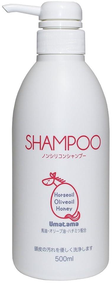 微視的思いやりのある反対にUmatama(ウマタマ) 熊本の馬油を使った馬油のノンシリコンシャンプー500ml ローズブーケの香り