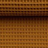 Die Stofftante / Waffelpique/Nelson/Ocker 315/0,5 m x 152