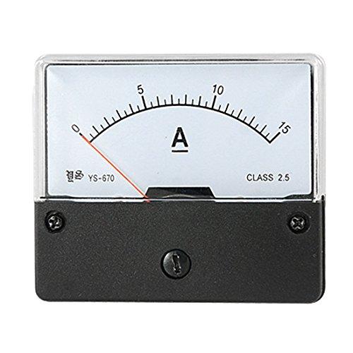 RETYLY DC 0-15A Strombereich Plattenmontage Strommesser Messgeraet