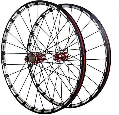 Juego de ruedas de bicicleta 26 pulgadas Fibra de carbono MTB Bicicleta de montaña Juego de ruedas de bicicleta Llanta de aleación ultraligera Ruedas de cubo de carbono Juego de ruedas Llantas Ruedas